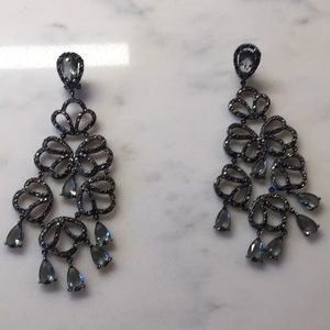 BCBG pavé chandelier earrings for pierced ears